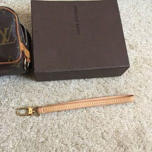 Vachetta leather strap wrislets